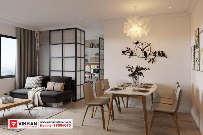 Thiết kế nội thất chung cư 789 Xuân Đỉnh - Ngoại giao đoàn